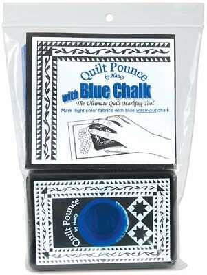 Quilt Pounce Pad W/Chalk Powder 4oz Blue -