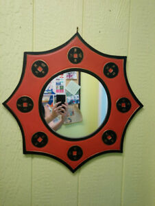 Asian inspired wall mirror