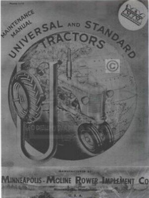 Minneapolis Moline Ut Uts Utu Maint Shop Service Manual