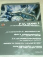 2005 Harley-Davidson international owner's manual VRSC models