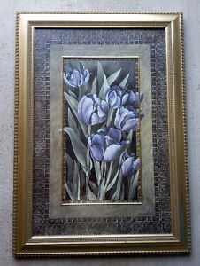 FRAMED PURPLE TULIP PRINT - ARTIST LINDA THOMPSON London Ontario image 2