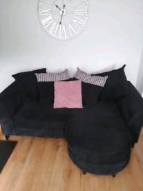 Black Sofa, fabric