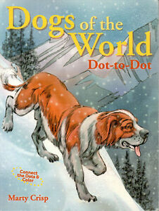 DOGS OF THE WORLD DOT-TO-DOT Coloring Book - Marty Crisp RARE