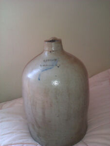 RARE WINDSOR NOVA SCOTIA LIQUOR JUG, C.P. SHAW 1 GALLON