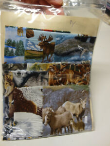 Realistic Animals Cotton Quilt Fabric Stash #1