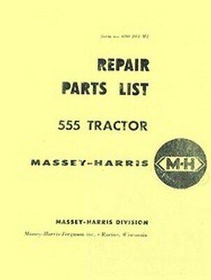 Massey Harris 555 Tractor Repair Parts List Manual