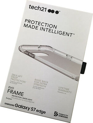 Tech21 FROST CLEAR/WHITE EVO FRAME CASE TPU COVER FOR SAMSUN