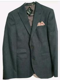 BNWT NEXT mens 100% pure new wool Harris Tweed check blazer jacket 38R