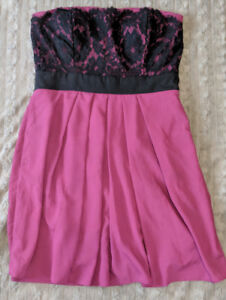 Magenta colored, laced top, party dress / junior prom dress!!