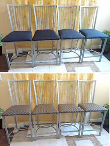 Like New!8 Beautiful Steel Frame Counter Height Bar Stools