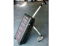"Rare ""Kinbag"" combined light alloy trolly and bag...made in Sweden."