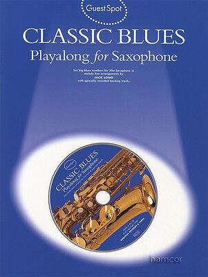 Guest Spot Classic Blues Playalong for Saxophone Alto Sax Music Book/CD