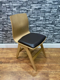 Heavy Duty Contract Quality Light Wooden Café Restaurant Side Chairs