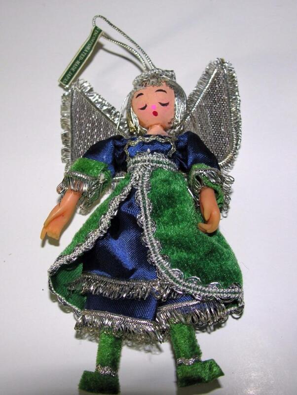 1968 VTG NUTCRACKER SUITE XMAS ANGEL ORNAMENT. Mr. Christmas Japan FIGURAL