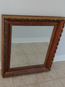 Vintage Mirror with Ornate Gold Frame