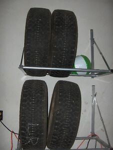 Set of 4 snow tires 22560R16 on rims GM 115MM Kitchener / Waterloo Kitchener Area image 1