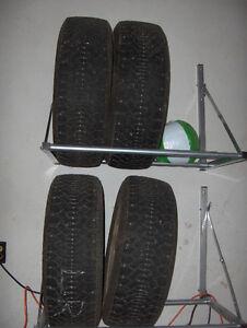 Set of 4 snow tires 22560R16 on rims GM 115MM Kitchener / Waterloo Kitchener Area image 1