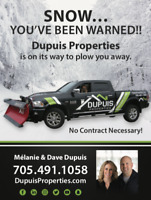 NO CONTRACTS! Snow Removal Services, Snow Plowing Services