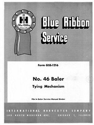 International 46 Baler Tying Mechanism Service Manual