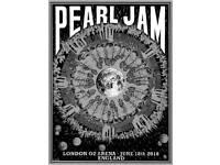 Pearl Jam London 2018 night poster