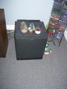 SONY SPEAKERS AND SUB WOFFER