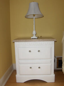 2 White Closed Nightstand $49 both items