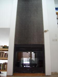 Foyer de bois à 2 côtés - 2-sided Wood Fireplace