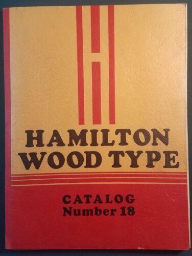 c1935 Hamilton Wood Type Catalog No 18 Vintage Printing Equipment