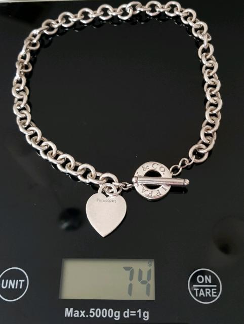 0facb233b Vintage Tiffany & Co. Sterling Silver 925 Heavy 73 Grams Heart T ...