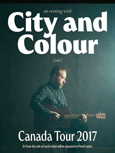 City and Colour (Solo)  tickets for sale