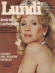 1977, VOL. 1, #1, PREMIER NUMÉRO DU LUNDI, ANDRÉE LACHAPELLE