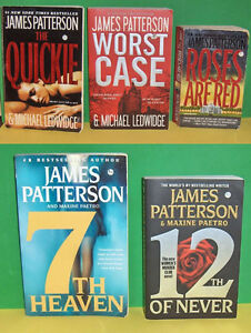 Lot of 5 James Patterson  Soft Cover Pocket Books
