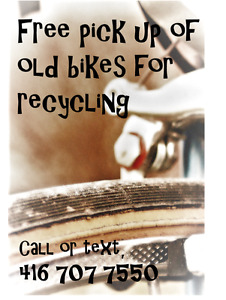 Recycle that old bike
