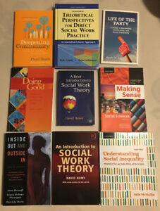 Various textbooks for sale - social work/psychology/sociology
