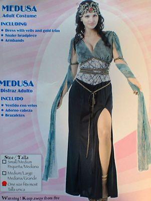 MEDUSA MEDIEVAL LADY ROMAN SEXY WOMANS GIRLS COSTUME 10-12 FREE POSTAGE