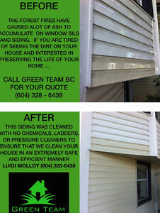 Siding Scrubbing Up TO 40 FT !! With No Chemcials! Call NOW!!!! North Shore Greater Vancouver Area image 3