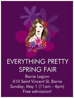 Everything Pretty Spring Fair at Barrie Legion (Vendors Wanted)