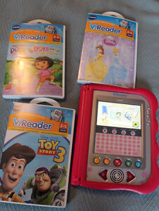 Vtech V.Reader Interactive E-Reader plus 3 Books/Games