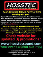 Book your DJ event by March 31st and receive 25% off