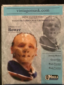 JOHNNY BOWER AUTOGRAPHED MASK