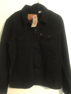 Levi's black denim jean jacket. Size Large. NWT