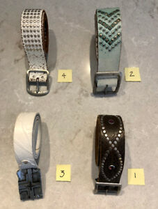 A SELECTION OF MENS DESIGNER LEATHER BELTS! LIKE NEW