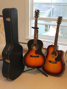 2 ELECTRIC/ACOUSTIC Guitars (plus case and stand) GREAT DEAL