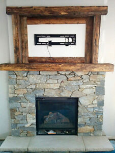 RECLAIMED WOOD FIREPLACE MANTELS / SHELVES / FEATURE WALLS
