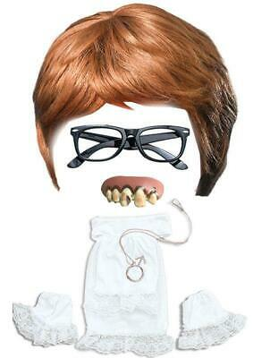 Fancy Dress Set Austin Powers Wig Teeth Glasses and Collar Set Groovy 60s Film - Austin Powers Wig