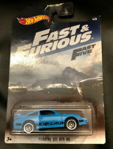 Hot Wheels Fast & Furious  Fast 5 Blue Porsche 911 GT3 RS, New