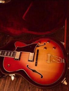 Trade/Swap Peerless Sunset Thinline Sunburst Hollow Body Guitar