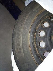 General Tire Altimax Arctic Tires on Rims - 185/65R15 Kitchener / Waterloo Kitchener Area image 1