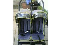 Double unisex side by side pushchair