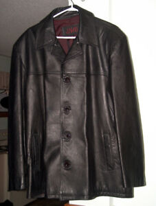 Mens Leather Coat (pd $500)Lg